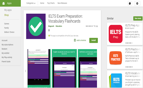 دانلود رایگان اپلیکیشن IELTS Exam Preparation: Vocabulary Flashcards