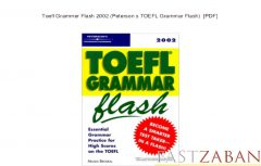 دانلود کتاب TOEFL Grammar Flash