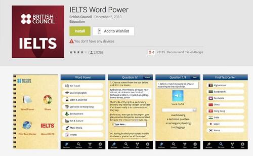 دانلود رایگان اپلیکیشن IELTS word power