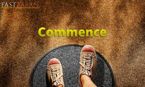 واژه Commence