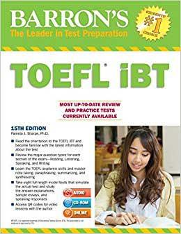 ۱. کتاب Barrons TOEFL iBT 15th Edition