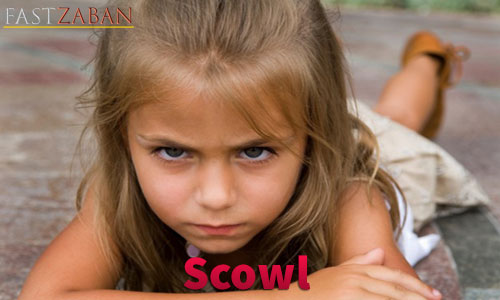 آموزش لغات کتاب ۵۰۴ واژه تصویری - لغت Scowl