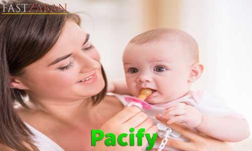 آموزش لغات کتاب ۵۰۴ واژه تصویری - لغت Pacify