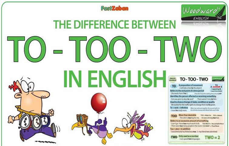 راهنمای کامل تفاوت To و Too و Two در زبان انگلیسی – ویدیو