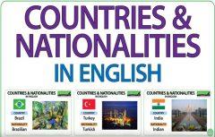 اسم کشورهای جهان به انگلیسی | ملیت و زبان