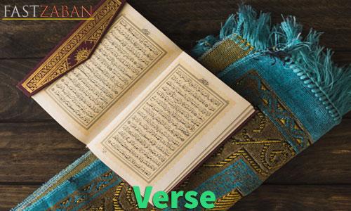 آموزش لغات کتاب ۵۰۴ واژه تصویری - لغت Verse