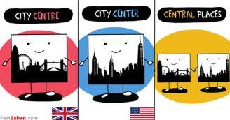 center و centre