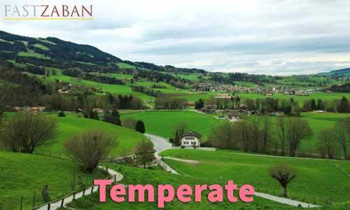 آموزش تصویری کتاب ۵۰۴ واژه - لغت Temperate