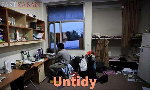 آموزش تصویری کتاب ۵۰۴ واژه - لغت Untidy