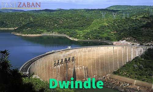 آموزش تصویری لغات ۵۰۴ واژه - لغت Dwindle