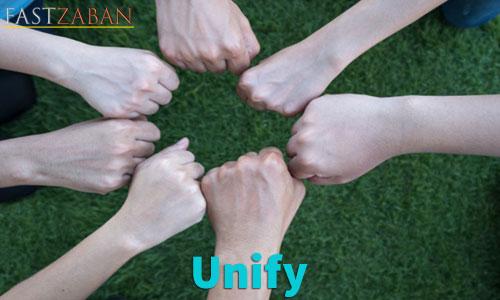 آموزش تصویری لغات ۵۰۴ واژه - لغت Unify