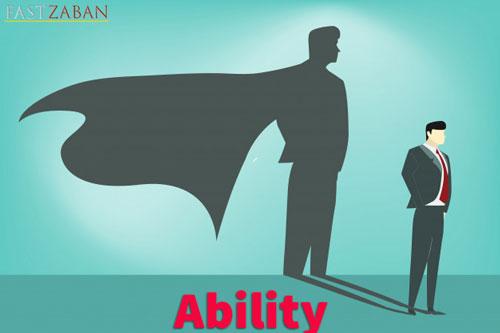 کلمه ability