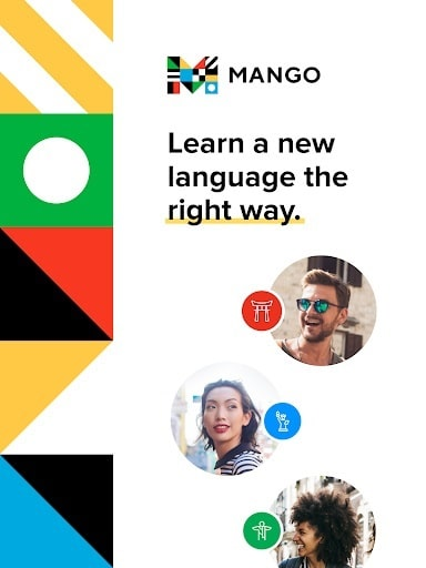 برخی از امکانات و قابلیت های برنامه Mango Languages: Personalized Language Learning اندروید