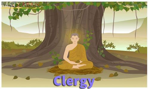 آموزش تصویری لغات ۵۰۴ واژه - لغت clergy