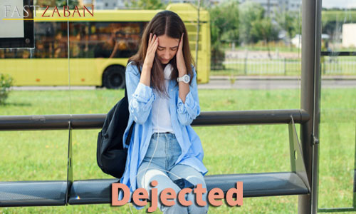 آموزش تصویری لغات ۵۰۴ واژه - لغت dejected