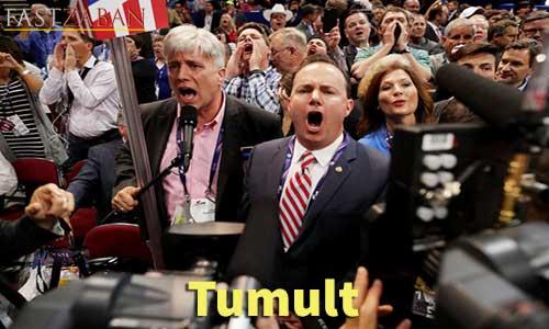 آموزش تصویری لغات ۵۰۴ واژه - لغت tumult