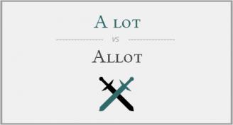 تفاوت کلمات مشابه در انگلیسی - a lot و allot
